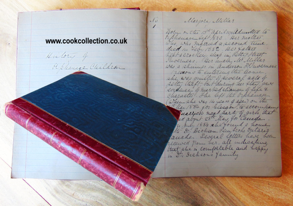 Highland Orphanage Admissions book